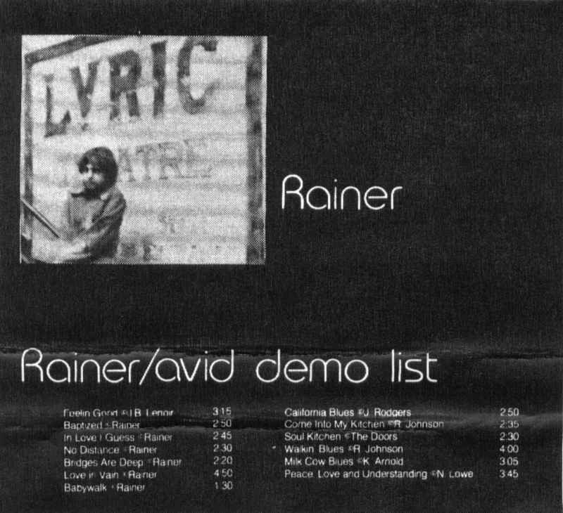 Rainer Avid Demo List